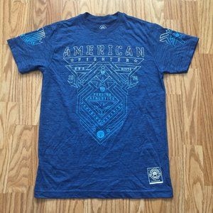NEW AMERICAN FIGHTER BLUE T-SHIRT SZ SMALL